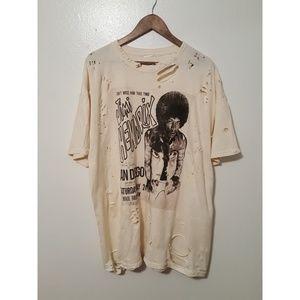 Distressed Jimi Hendrix XXL Tee